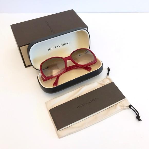 7f2f6f45a5ea Louis Vuitton Accessories   Gina Sunglasses Red Z0075e   Poshmark